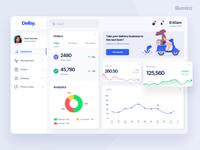 Dashboard design for a delivery service platform
