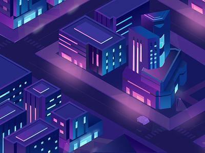 City illustration affinity designer design