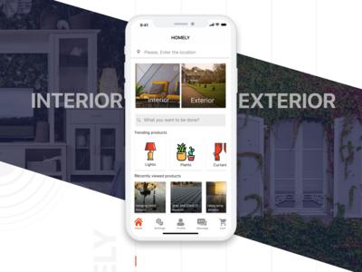 UI/UX DESIGN   iOS app for interior exterior work   Home page