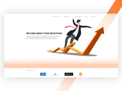Education system landing page