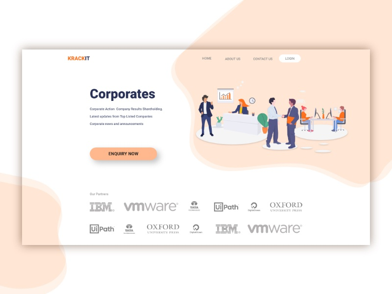 Landing page for corporates simple design user experience user interface design userinterface corporate corporate design website web landing page landingpage web design minimalist ui illustration ux vector branding user center design uidesign design minimal