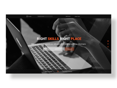 online skill learning site landing page