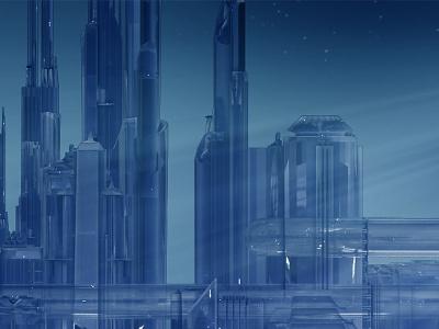 City icon illustration 3d future citi
