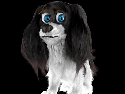 Doggy design characters illustration test 3d dog animal
