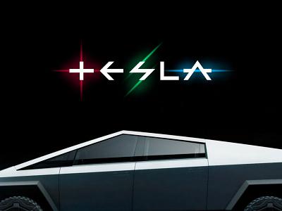 New Logo for Tesla cybertruck tesla identity tesla logo tesla