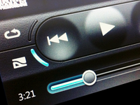 Touchscreen Music Player UI