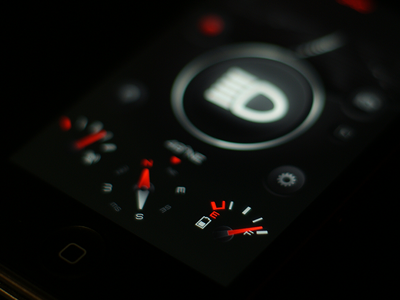 Flashlight Interface flashlight interface dark analog concept