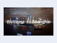 Shanghai tourism introduction webpage