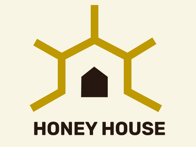 Honey House - Logo design honeycomb logo design graphicdesign graphic branding logodesigner logodesign design designer house home honey honeybee honey logo logo home logo