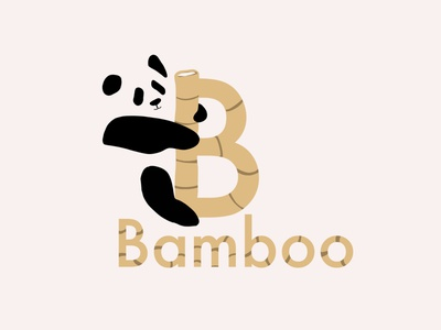 Bamboo - Logo design panda bamboo logo panda logo designer design dailylogochallenge logo design idenity graphicdesign graphic brand design branding logodesign logos logo