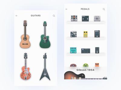 Concept pedals concept music instrument music ios illustration icon guitar