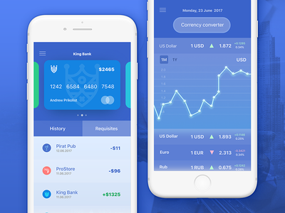 Banking App Design Concept concept ui credit cards app banking