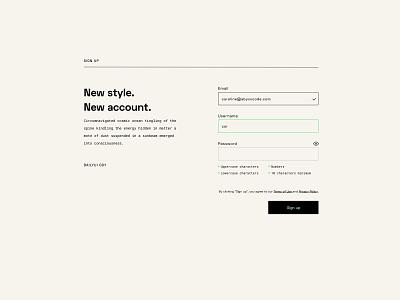 Signup - daily UI 001 form web webdesign signup daily ui dailyui ui