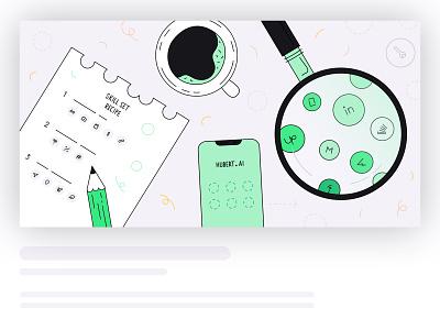 AI talent search search recruiting header hr ai header illustration design vector illustration