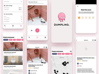 The Dumpling app ui design ios app product design logo design ui