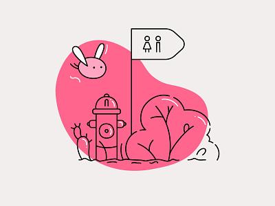 Quickly now! cute web design branding ui design vector illustration