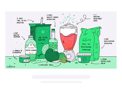 The experimental AI kitchen food fruit ingredients kitchen cooking ai drawing art header illustration design vector illustration