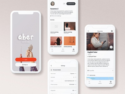 Aber Whitelabel: Account pages