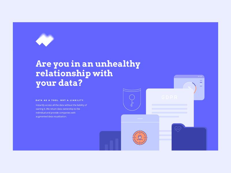 Ipseity.network illustration startup landing page startup data logotype logo branding web  design