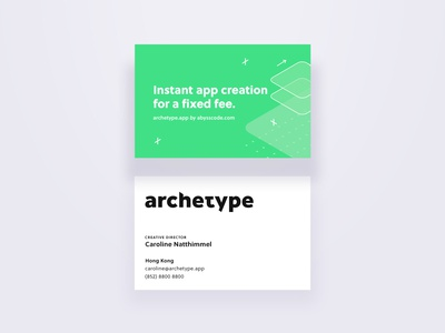 Archetype business card
