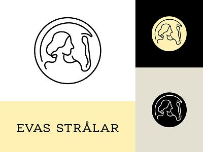 Evas Strålar Logo typography logotype logo design vector branding