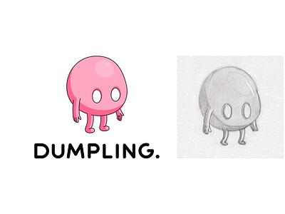 Dumpling logo logotype logo vector design illustration branding
