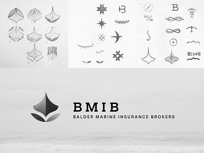 BMIB logo in b/w logotype logo vector design branding