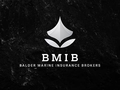 BMIB logo light b/w vector design typography logotype logo branding