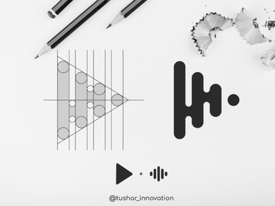 Play Button web vector ux ui music minimal logo illustration icon design branding app
