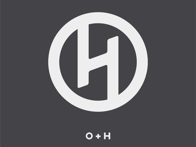 O + H Ambigram monogram hotel logo design graphics design art logo