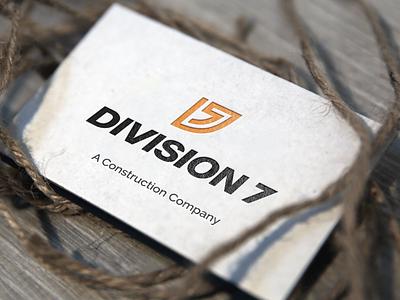 Division 7 Branding branding brand construction modern designer icon monogram design art logo