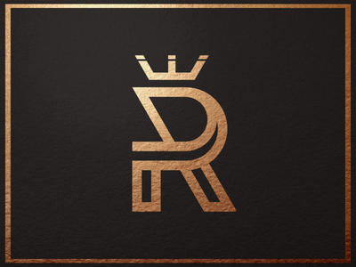 Rebel Crown branding brand identity rose gold art designer elegant design monogram logo luxury crown