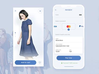 Credit card checkout vintage ui shop payments mcommerce interface fashion dress credit card checkout