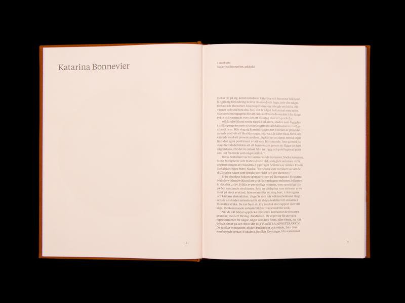 Fisksätra Mönsterarkiv pattern bookdesign typography visual identity publication design graphic design book