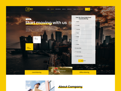 Skybox — Moving Company delivery services moving transportcompany transport industry corporate business movingcompany webdesign website web uxdesign ux uidesign ui shot inspiration dribbble design