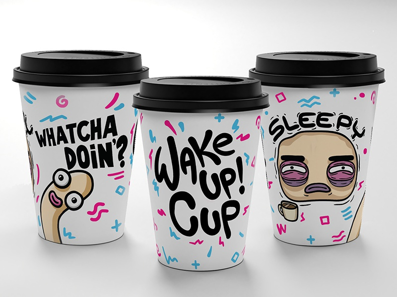 Perfect wake up TRIO animation product cartoon trendy energy energy drink coffee service coffee app coffeescript coffee cup mockup coffee cup coffee logo funky graphics arthouse character energy arthouse design 2d