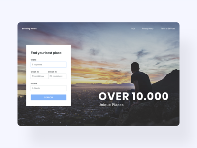 Booking landing page - UI/UX Design