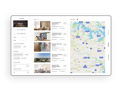 Savana Accommodation Engine UI