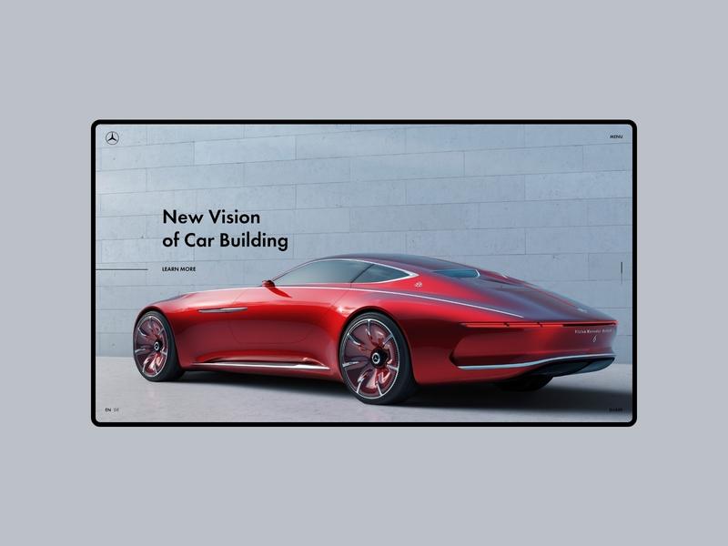 Maybach Vision 6 website web ux ui promo minimal design