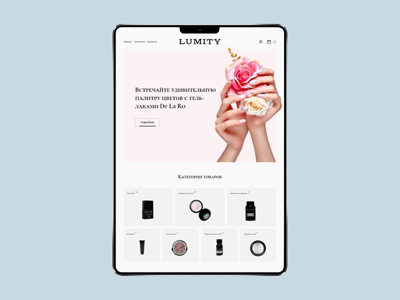 Lumity wordpress website ecommerce web ux ui minimal design