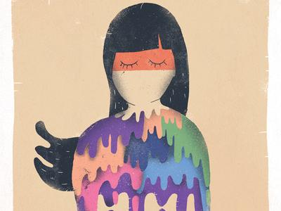 July / 004 character illustration