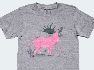 'Elk' illustration on Cotton Bureau cotton bureau apparel tees t-shirt