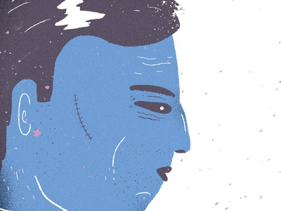 Blue Sequels #17 blue sequels man guy blue character design illustration