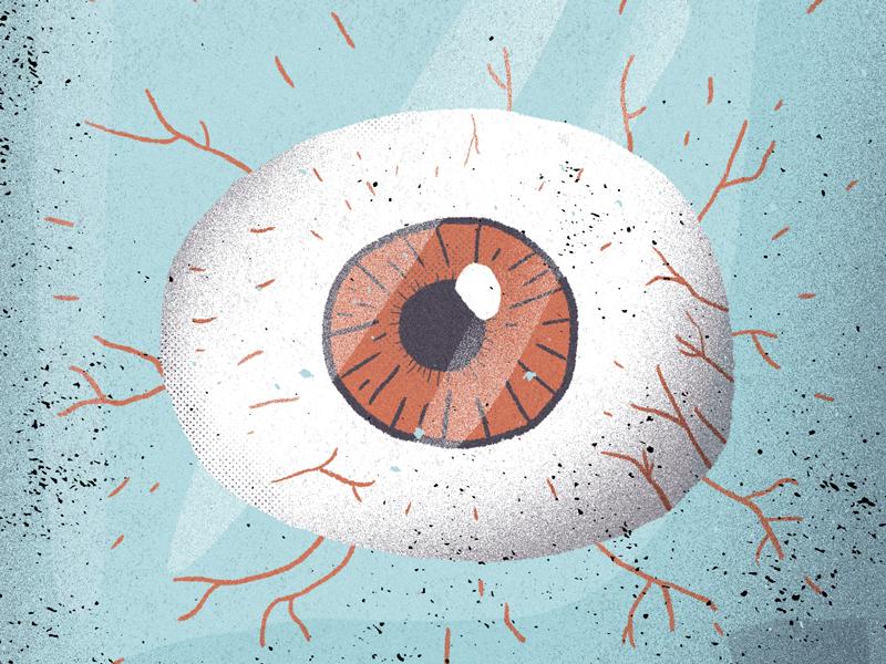 Eye in a bottle bottle eye illustration