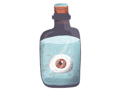 Eye in a bottle #2 illustrator texture bottle eye illustration