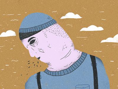 Traurig illustration character sad guy guy