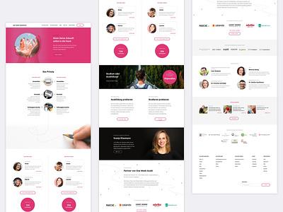 One Week Experience Website screendesign webdesign ui design website