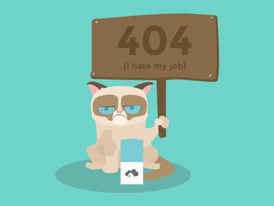 Grumpy 404 Page