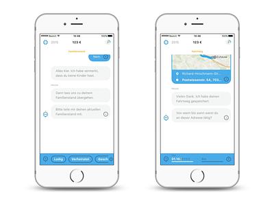 Steuerbot App (tax chatbot) ux design interfacedesign appdesign screendesign ui design app chatbot