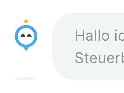 Steuerbot avatar (tax chatbot) icondesign icon chat avatar ux design interfacedesign appdesign screendesign ui design app chatbot